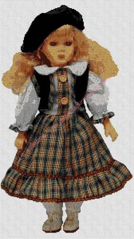 Muñeca con boina
