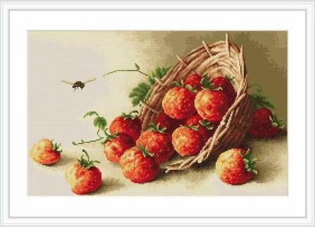 Cesta con fresas