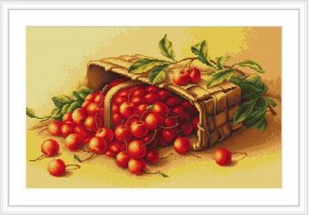 Cesta con cerezas