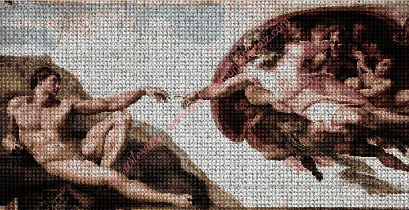 La Creación Adan en la Capilla Sixtina de Miguel Ángel