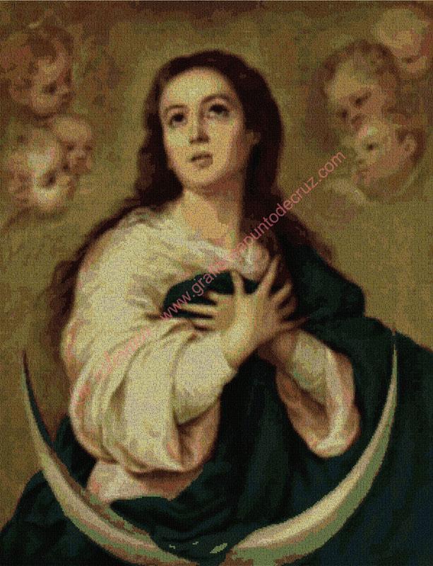 Inmaculada de Murillo, detalle