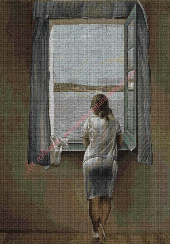 Muchacha en la ventana de Dalí