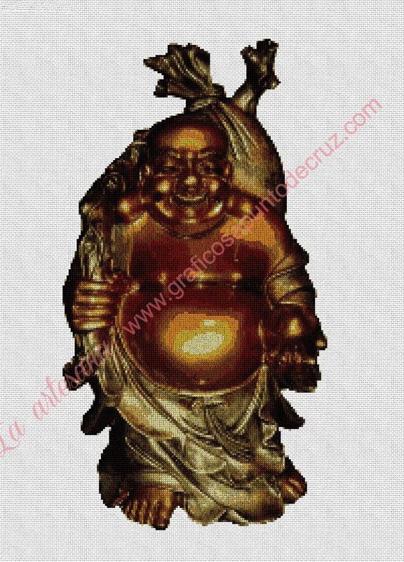 Buda dorado 36 x 50 cm