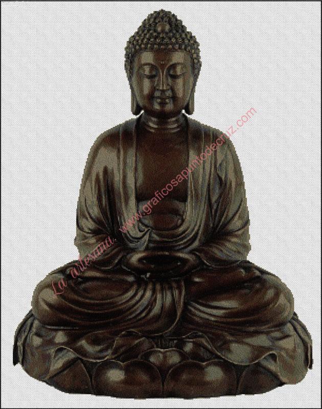 Buda meditando 54 x 69 cm