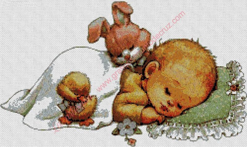 Bebé con conejito