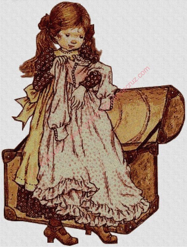 Muñeca con vestido nuevo