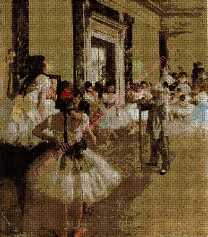 Clase de danza de Degas