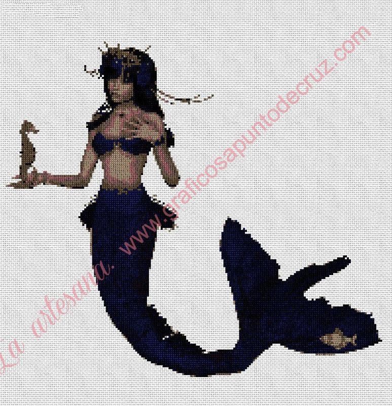 Sirena con caballito de mar