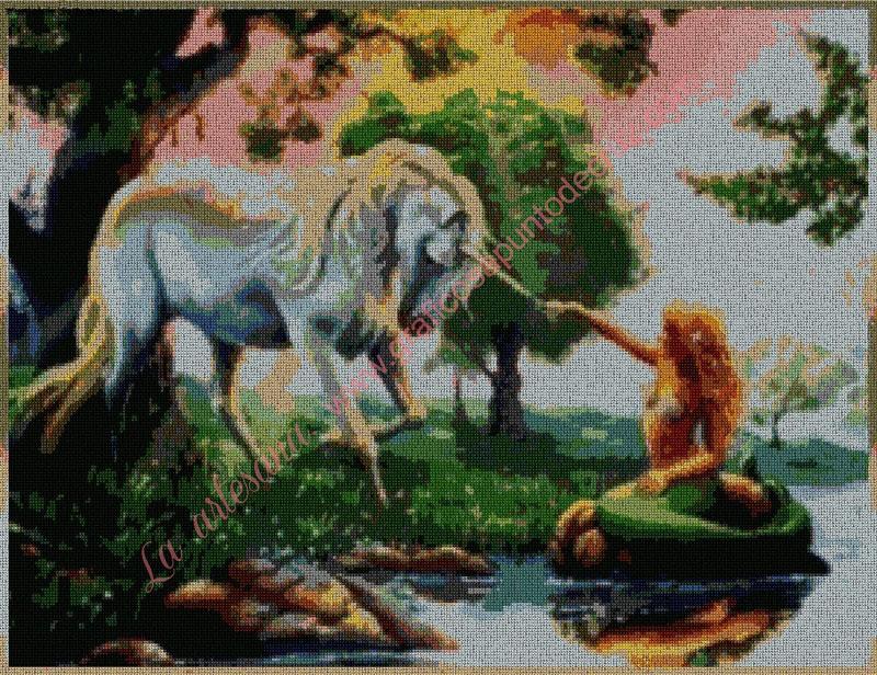 Sirena con unicornio