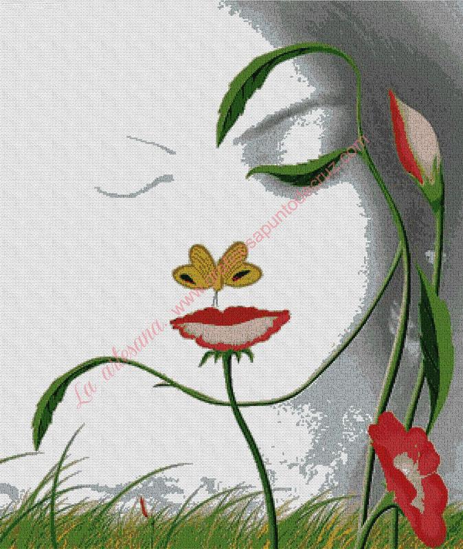 Chica de flores