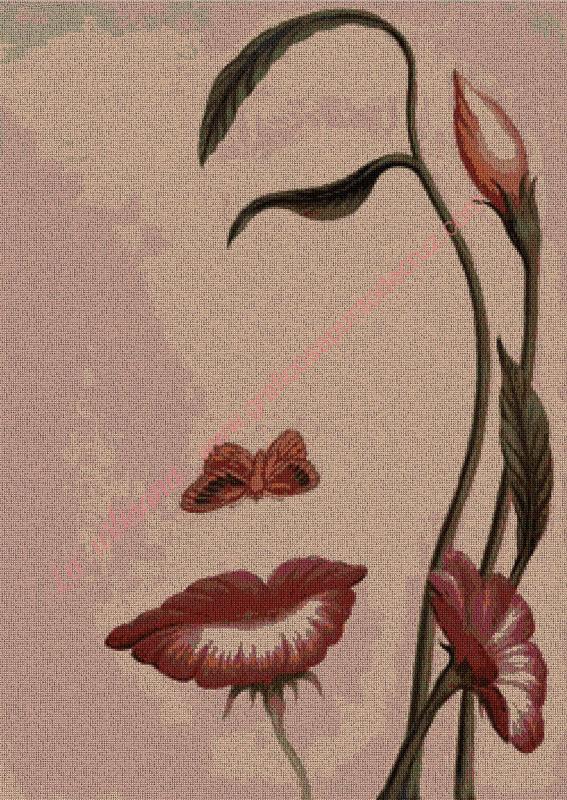 Chica de flores rosa