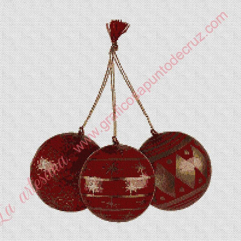 Adorno de Navidad rojo y dorado