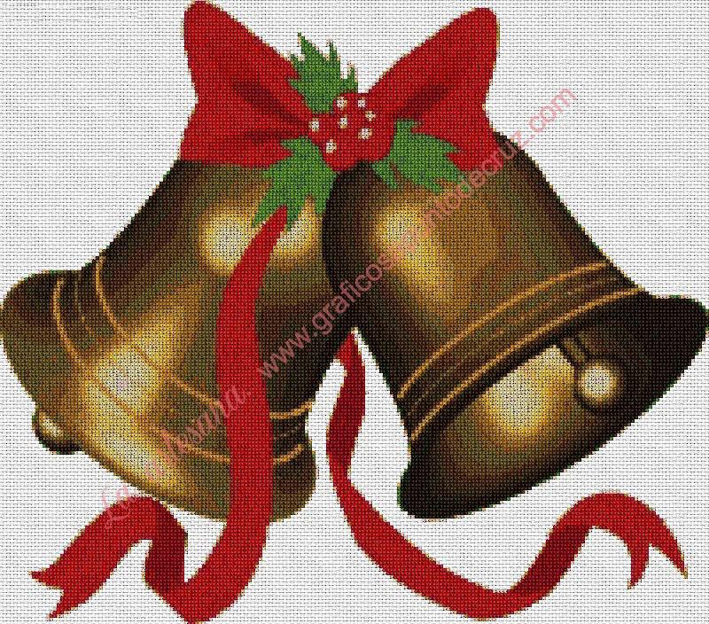 Campanillas de Navidad doradas