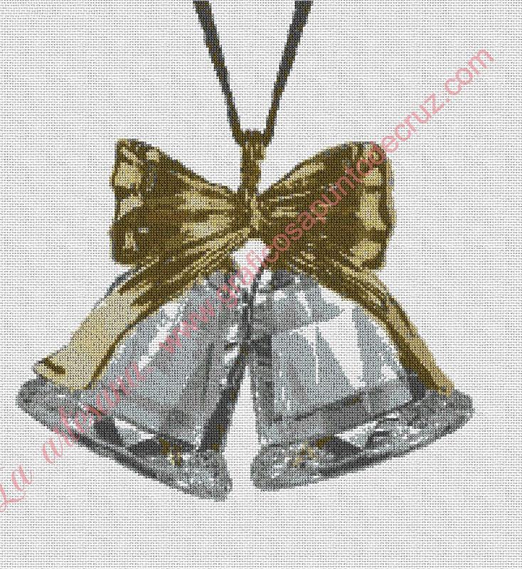 Campanillas de Navidad de cristal