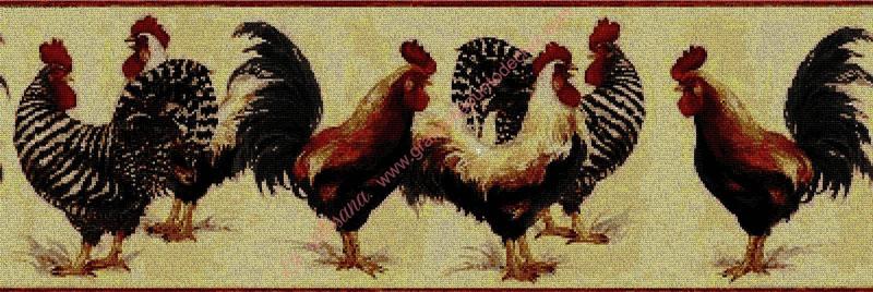 Cenefa de gallos