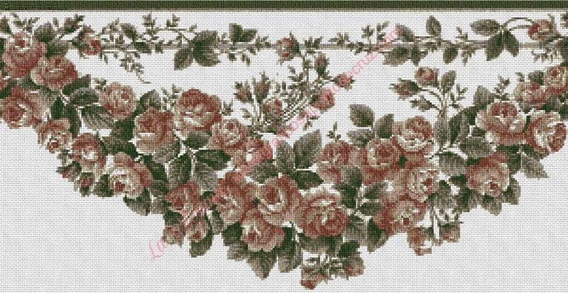 Cenefa de rosas