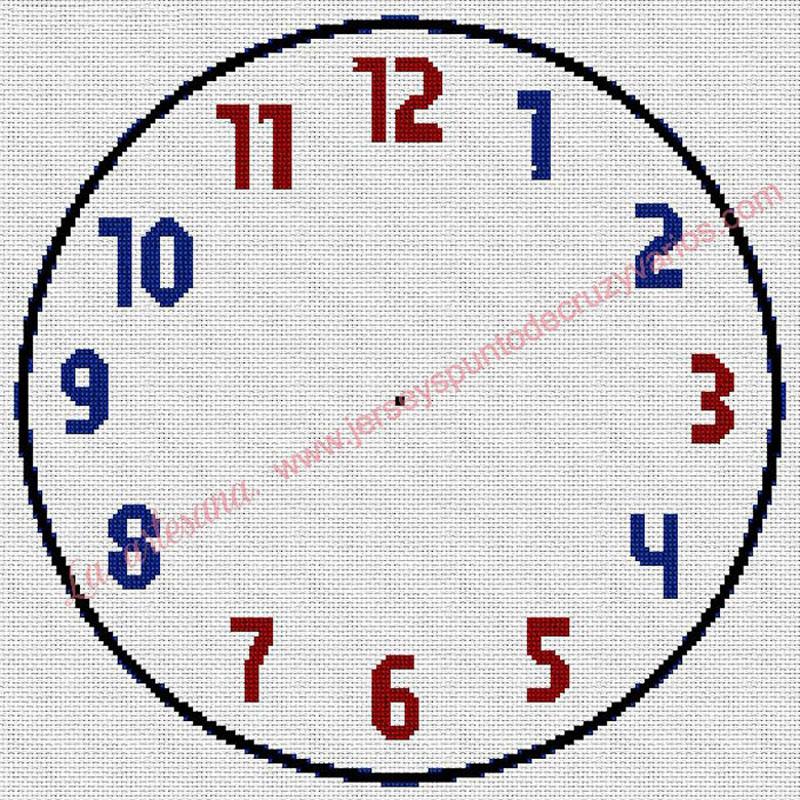 Reloj con números de colores