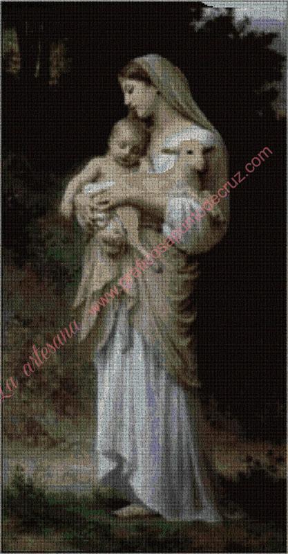 Virgen del cordero lechal