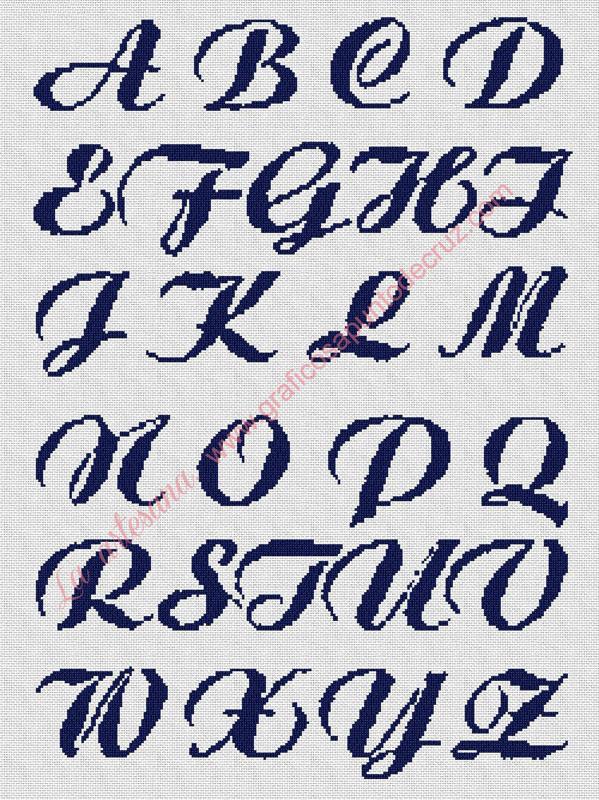 Abecedario azul 45 x 61 cm