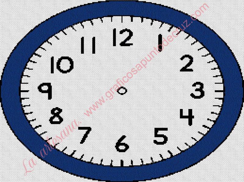 Reloj de marco azul