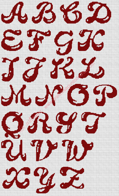 Abecedario rojo 54 x 90 cm
