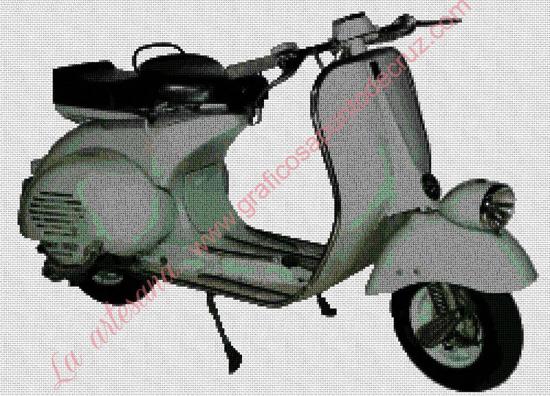 Moto vespa 45 x 33 cm