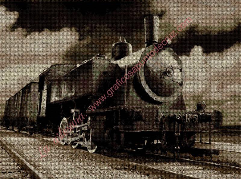 Locomotora en sepia